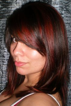 This dark brown with red highlights has been my favorite color/cut I had so far!