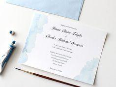 Summer Watercolor Wedding Invitation: Download the Summer watercolor wedding invite here.  Source: DIY Network