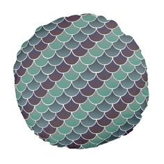 Aquatic Scales Round Pillow ($36) ❤ Liked On Polyvore Featuring Home, Home  Decor