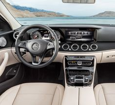 View of the interior of the new Mercedes-Benz E-Class.