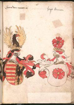 Wernigeroder (Schaffhausensches) Wappenbuch Süddeutschland, 4. Viertel 15. Jh. Cod.icon. 308 n  Folio 66r