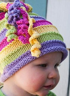 51 Ideas For Knitting Loom Hats Kids Free Pattern Baby Hat Knitting Pattern, Loom Knitting Patterns, Baby Hats Knitting, Knitting For Kids, Knitting Projects, Crochet Patterns, Knitting Sweaters, Summer Knitting, Beanie Pattern