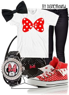 """""""Minnie Mouse"""" by lalakay ❤ liked on Polyvore"""