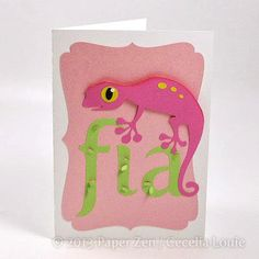 Paper Zen: Lizard card for Fia