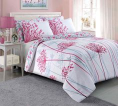 Meadow pink Duvet Quilt Bedding Set – Linen and Bedding Pink Bedding Set, Luxury Bedding Sets, Unique Bedding, Modern Bedding, Gold Bedding, Luxury Linens, Green Bedding, Fitted Bed Sheets, Cheap Bed Sheets