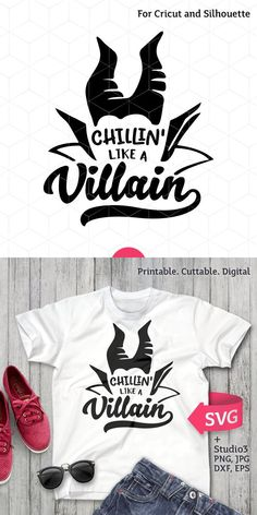 Things for Andee to Make workout plans printable - Workout Plans Disney Shirts, Disney Outfits, Disney Villain Shirt, Disney Halloween Shirts, Silhouette Cameo Projects, Silhouette Design, Vinyl Designs, Shirt Designs, 3d Templates