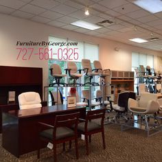 The Global Showroom in Tampa Bay has an AMAZING SELECTION! Call to schedule your personal walk through appointment and experience our luxurious showroom! Visit www.FurnitureByGe… for new and used office furniture solutions and more!