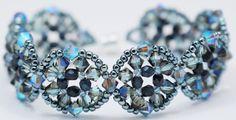 Deb Roberti's Crocus Garden Bracelet done in Blue tones