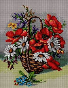 Blue Violets in the basket-cross-stitch pattern. Fabric: Aida White X… Cross Stitch Bird, Cross Stitch Flowers, Counted Cross Stitch Patterns, Cross Stitch Designs, Cross Stitching, Cross Stitch Embroidery, Cross Stitch Silhouette, Elephant Applique, Tapestry Kits