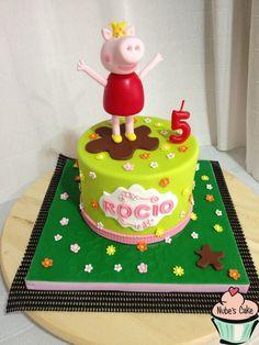 Tarta cumpleaños fondant peppa pig
