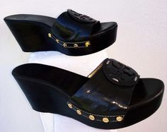 Tori Burch Wedge Slides Heels Shoes by loveusati on Etsy, $45.38
