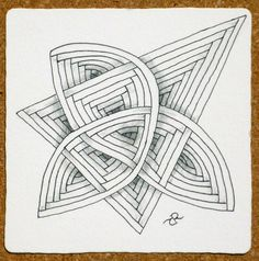 """""""Auraknot"""" by #Zentangle co-founder Rick Roberts"""