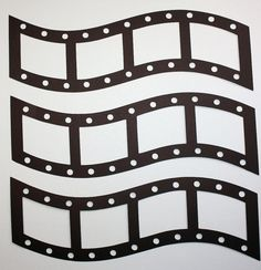 3 Film Strips/Die Cuts/Picture Frames/Paper Cuts/Scrapbooking/Card Making/Embellishments/Filmstrips