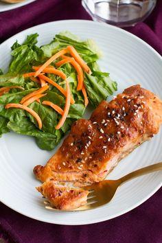 Simple Miso Glazed Salmon