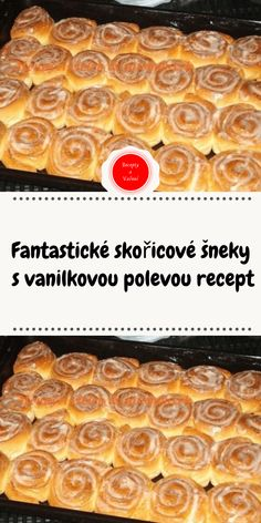 Fantastické skořicové šneky s vanilkovou polevou recept Waffles, Appetizers, Pie, Sweets, Breakfast, Desserts, Food, Pie And Tart, Morning Coffee