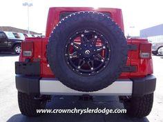 2012 RED Jeep Wrangler SAHARA JK-8 http://www.iseecars.com/used-cars/used-jeep-wrangler-for-sale