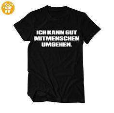 Ich kann gut Mitmenschen umgehen Fun lustiges T-Shirt Herren XXXX-Large Schwarz (*Partner-Link)