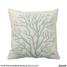 Coral Tree in Seafoam Green