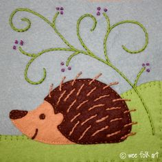 FREE Applique Patterns   Wee Folk Art (lots more, I'm just hung on hedgehogs)