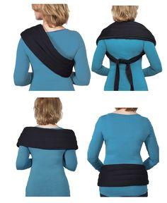 Så här kan man knyta fast sjalen.