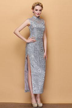 2014 Cheongsam Wedding Dress Luxury The party Long cheongsam
