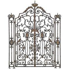 French Louis XV Style Wrought Iron Gate, 19th Century