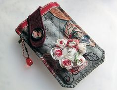 Phone Cases – Vintage Style Rose Mobile Phone Pouch-iPhone – a unique product by lilyhandmade on DaWanda