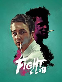 Reimagining Classic Movie Posters As Classic Portraits _ fight club movie poster Edward Norton and Brad Pitt Club Poster, Poster Print, Poster S, Movie Poster Art, Film Poster Design, Poster Wall, Poster Designs, Poster Ideas, Best Movie Posters