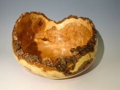 Black ash burl, natural edge bowl with satin poly finish, diameter Wood Bowls, Woodturning, Serving Bowls, Ash, It Is Finished, Satin, Natural, Tableware, Black