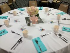 table display for the Founder's Day sorority banquet