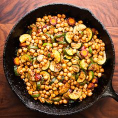Zucchini and chickpea tagine with big Moroccan flavors. A flexible vegetarian recipe that you can adapt to a wide variety of ingredients. #foodgawker