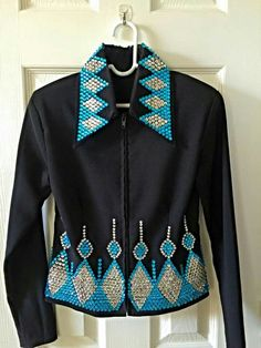 Black jacket with turquoise & silver bing 1 of 4