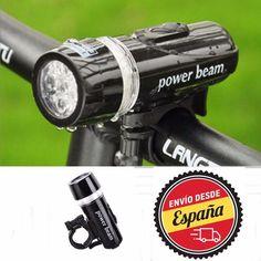 5 LED Impermeable Bicicleta Faros Delantera y Trasera Luz Lámpara Cabeza Luces