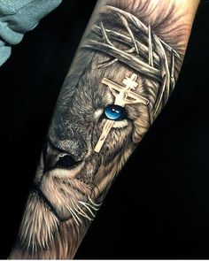 ▷ - only best tattoos - From 1 to . You want a tatt. Half Sleeve Tattoos Designs, Best Sleeve Tattoos, Sleeve Tattoos For Women, Tattoos For Guys, Tattoo Designs, Religious Tattoo Sleeves, Lion Tattoo Sleeves, Wolf Tattoo Sleeve, Lion Forearm Tattoos