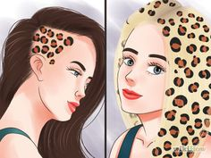 How to Dye Hair with Leopard Spots. Do you want funky leopard print hair, but don't necessarily want to pay the big bucks at a salon? Doing it yourself is a fun, cheaper option. The secret to getting the spots just right is. Leopard Makeup, Leopard Hair, Leopard Spots, Diy Hair Dye, Hair Dye Tips, Dye My Hair, Cheetah Print Hair, Leopard Print Tattoos, Wacky Hair Days