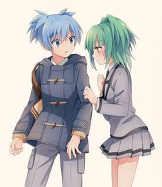 Assassination classroom Nagisa and Kayano