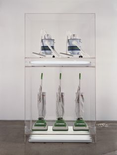 Photo shows work by Jeff Koons,New Hoover Convertibles, New Shelton Wet/Drys 5-Gallon Doubledecker 1981 - 1987   How to bring the Actuality of the New through Art within the De-actualized -Public Space- http://strangemessenger.blogspot.nl/2015/04/how-to-bring-actuality-of-new-through.html