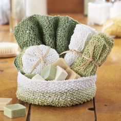 Knit Aubrey Spa Set [FREE Knitting Pattern]