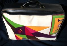 Braniff Hostess Pucci Luggage The Flying Colors of Braniff International as interpreted by Emilio Pucci, 1966