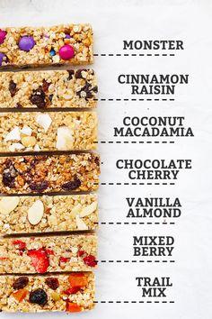 The Perfect Soft Granola Bars (Gluten Free & Vegan) Healthy Granola Bars, Chewy Granola Bars, Homemade Granola Bars, Healthy School Snacks, Healthy Breakfasts, School Lunches, Protein Snacks, Protein Bars, Vegan Snacks