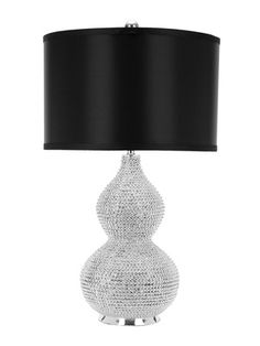 Lighting can be like jewelry for interiors: Nicole Bead Base Lamp (Set of 2) by Safavieh on Gilt Home