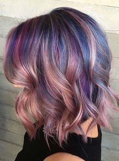 Pastel and Neon Hair Colors in Balayage and Ombre: Pink Balayage Hair #pastelhair #haircolors #neonhair #rainbowhair