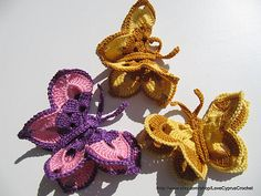 Ravelry: Butterfly 3 D Tutorial Crochet Pattern pattern by Lyubava Crochet
