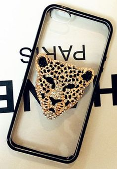 Leopard Head Clear Phone Shell Case Iphone Leather Case, Cool Iphone Cases, Iphone Accessories, Lunch Box, Shell, How To Make, Jewelry, Jewels, Schmuck