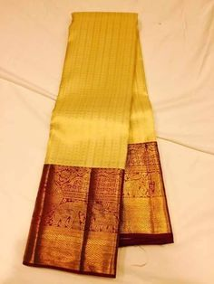 Yellow Silk Saree Kanchipuram, Handloom Saree, Pure Silk Sarees, Saree Color Combinations, Saree Dress, Saree Blouse, Bridal Silk Saree, Party Sarees, Sari Blouse