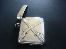 Vintage Sterling Silver Vesta Case Rare