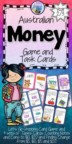 A shopping game and four packs of task cards to play Scoot and Scavenger Hunt.