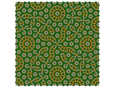 A larger square from the 17th simple nonperiodic tiling using pattern blocks. (Original)