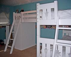 Flower Style White Triple Lindy Bunk Bed