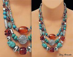 Turquoise Beads Necklace By Art Mirrors Life, Life Mirrors Art :Art Design Handmade handiwork. - Community - Google+